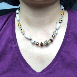 Handmade glass beads necklaces